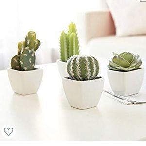 MyGift Set of 4 Mini Artificial Succulent Plants
